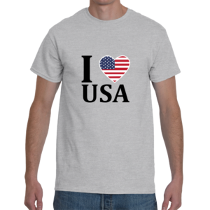 I Heart USA Men's T-Shirt - Ash Grey