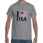 I Heart USA Men's T-Shirt – Sport Grey