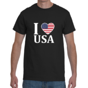 I Heart USA Men's T-Shirt – Black