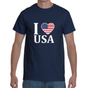 I Heart USA Men's T-Shirt – Navy Blue