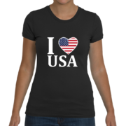 I Heart USA Women's T-Shirt – Black
