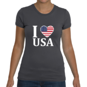 I Heart USA Women's T-Shirt – Dark Grey