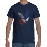 Red White and Blue Eagle Men's T-Shirt - Navy Blue