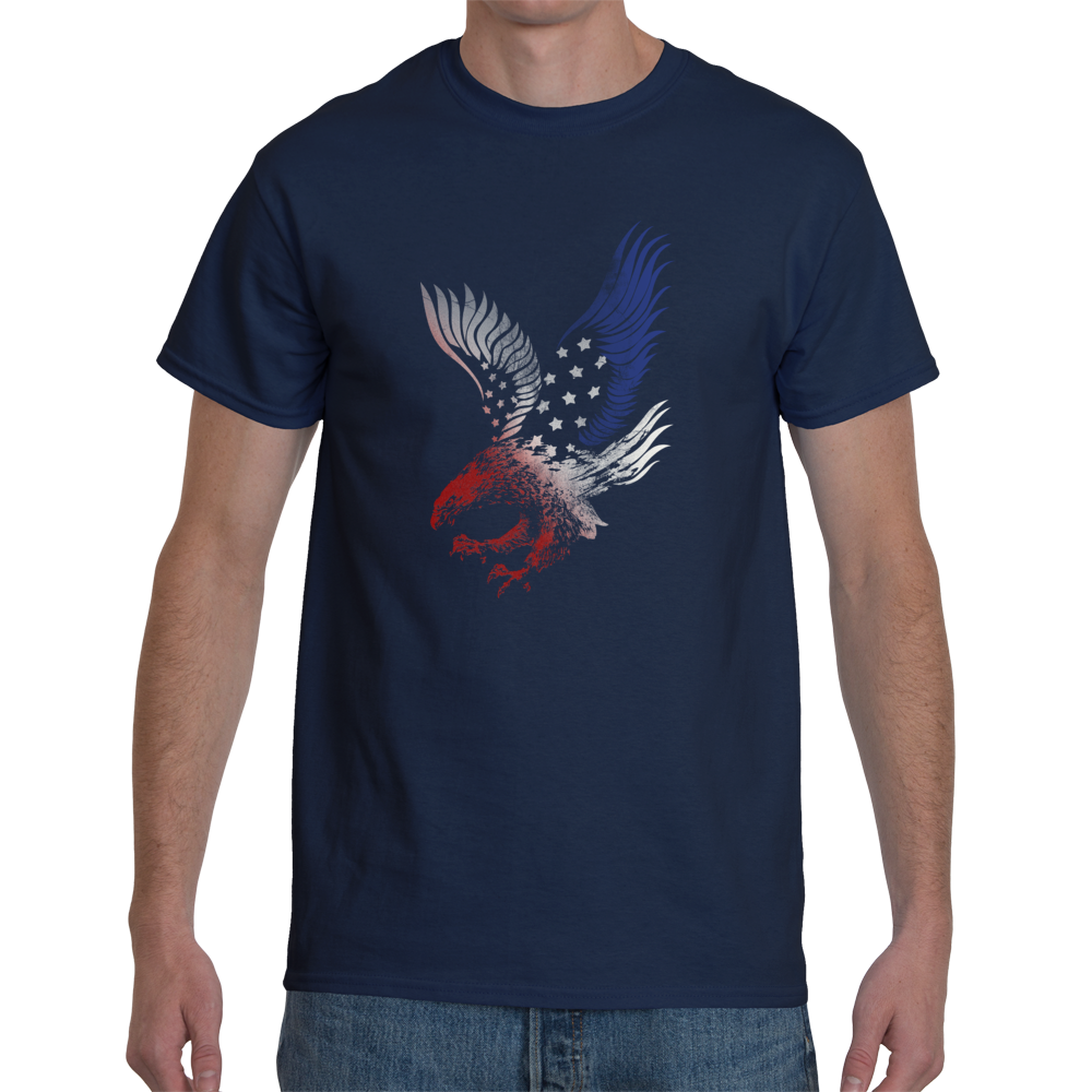 Red white and blue eagle men s t shirt so right for Red and blue t shirt